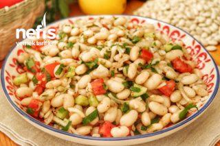 Yedikçe Yiyeceksiniz! Kuru Fasulye Salatası Tarifi (videolu)