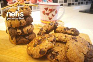 Starbuck Kurabiye Tarifi Ebruli İki Renk Çikolatalı Kurabiye (Videolu)