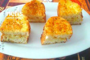 Tavada Peynirli Sarımsaklı Ekmek Tarifi