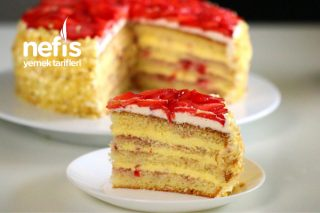 Çilekli Pamuk Pasta (Videolu) Tarifi