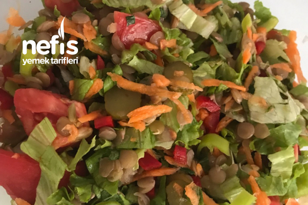 Diyet İçin Harika Bir Öğün Yeşil Mercimek Salatası Tarifi