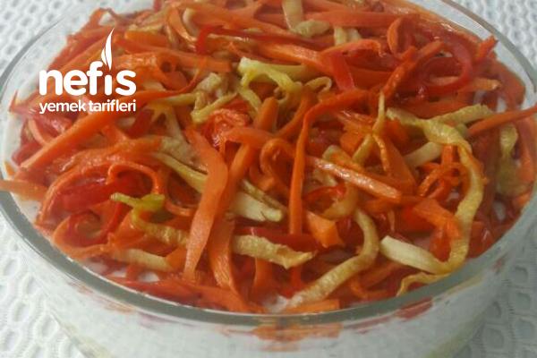 Jülyen Sebzeli Yoğurtlu Patates Salatası Tarifi