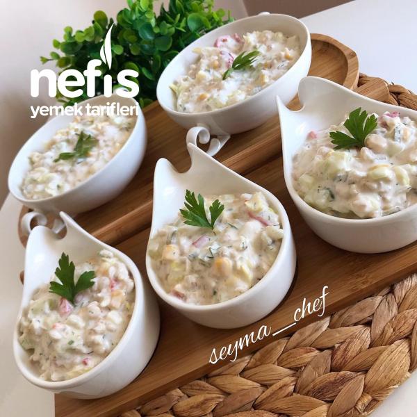 Yoğurtlu Buğday Salatası ( Efsane Lezzet )
