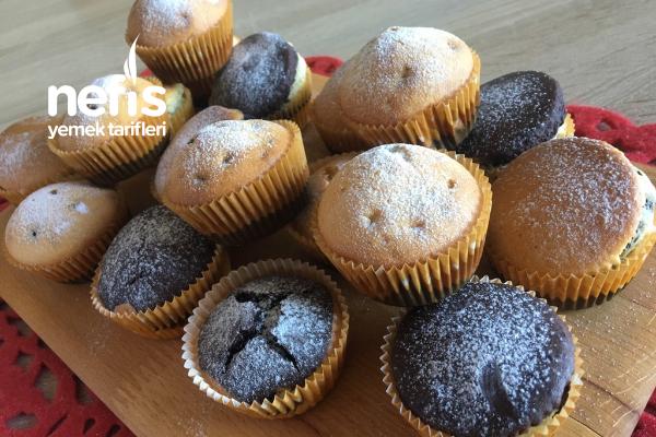 İki Renkli Muffin (Videolu) Tarifi