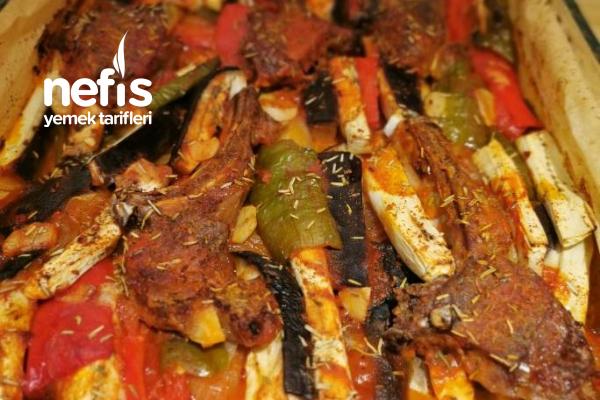 Sebzeli Kuzu Pirzola Fırın Yemeği Tarifi