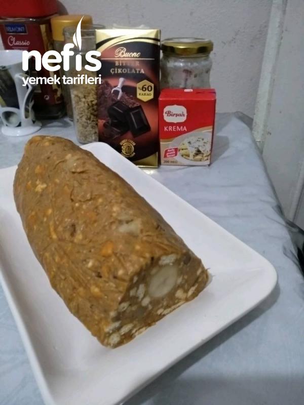 Kabaklı Mozaik Piramit Pasta.muzlu ,( Çikolata Ganajlı)