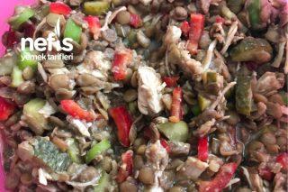 Hindi Etli Yeşil Mercimek Salatası Tarifi