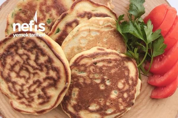 Kahvaltılık Tuzlu Pancake ( Glutensiz Farklı Tarif) Tarifi