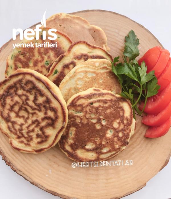 Kahvaltılık Tuzlu Pancake ( glutensiz farklı tarif)
