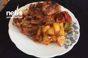 Nefis Soslu Fırında Sebzeli Tavuk Tarifi