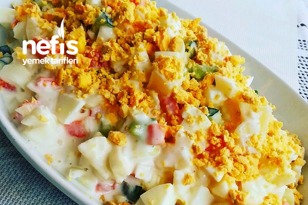 Yumurta Tozu Salatası Tarifi