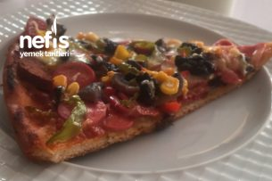 Evde Nefis Bol Malzemos Pizza Tarifi
