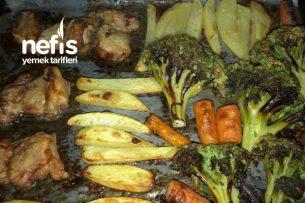 Fırında Diyet Soya Soslu Tavuk Brokoli Sebze Kızartma Tarifi