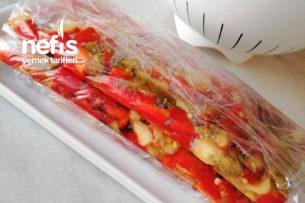 Közlenmiş Patlıcan Biber Salatası Tarifi