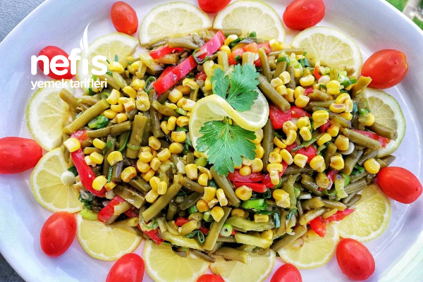 Haşlanmış Taze Fasülye (Börülce) Salatası Tarifi