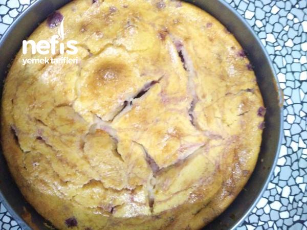 Kirazlı Labneli Kek