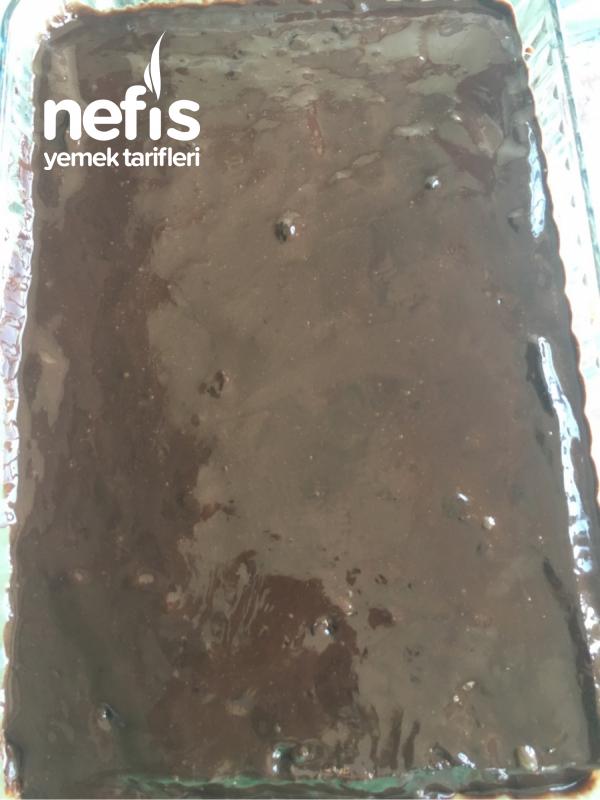 Çikolata Soslu Kadayıflı Revani( Ekmek Kadayıfı Tadında)