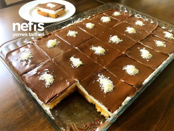 Çikolata Soslu Karamelize Şerbetli Etimek Tatlısı