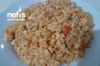 Sebzeli Tavuklu Bulgur Pilavı (İddia Ediyorum Daha Güzeli Yok) Tarifi