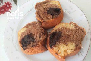 3 Renkli Kek Islak Çikolatalı Keçi Boynuzlu Kek Tarifi