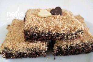 Çikolatalı Kumlu Pasta (Islak Kek İle Yaş Pasta Lezzetinde) Tarifi