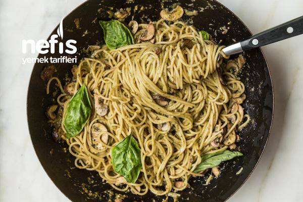 Fırınlanmış Sarımsaklı Pesto Soslu Spaghetti Tarifi