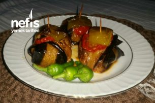 Köfteli Patlıcan Çöp Kebap Tarifi