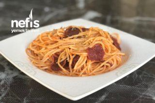 Pastırmalı Spagetti Tarifi