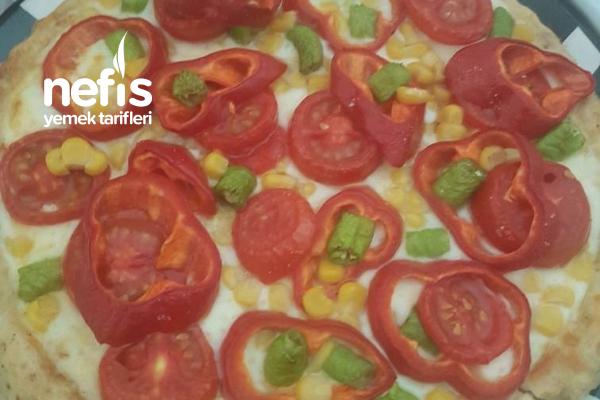 Tart Kalıbında Hamursuz Fit Pizza Tarifi
