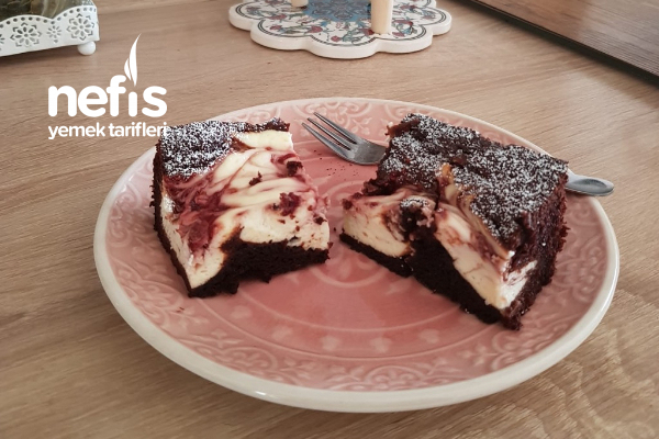 Brownie Ve Frambuazlı Cheesecake