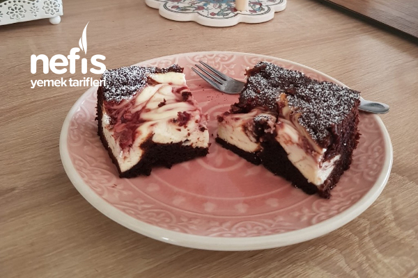 Brownie Ve Frambuazlı Cheesecake Tarifi