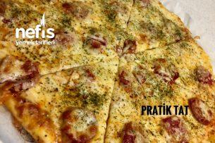 Sucuklu Kaşarlı Pizza Tarifi