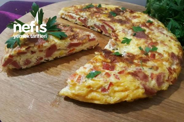Çok Beğenilen Pizza Omlet Tarifi