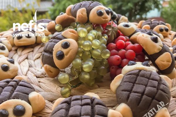 Kaplumbağa Kurabiye (Bayram İçin Çocuklara İkramlık) Tarifi