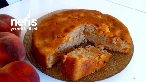 Şeftali Ve Tarçınlı Kolay Kek(videolu)