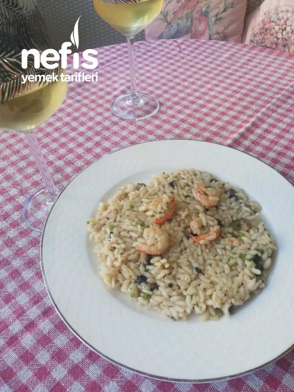 Risotto – Mantarlı-karidesli ( İtalyan Mutfağı)