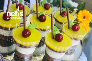 Üç Renkli Kup (Meyveli Ve Sütlü Sevenlere) Tarifi