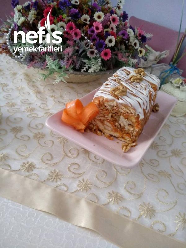 Havuçlu Mozaik Pasta. (cevizli, Tarçınlı)