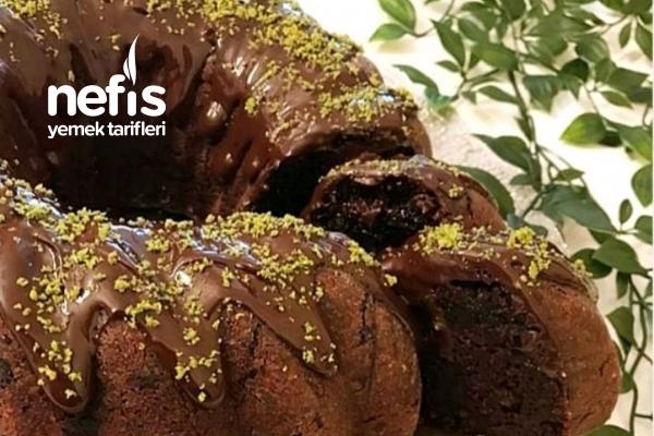Yalancı Kestaneli Çikolatalı Kek