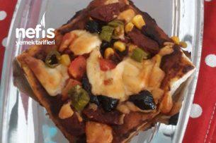 5 Dk Milföy Pizza Tarifi