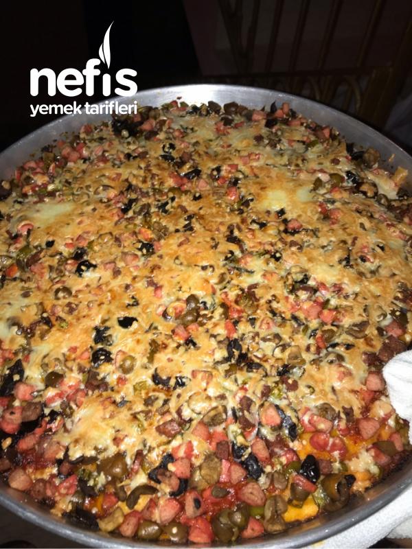 Evde Nefis Pizza Tarifi