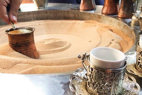 kumda kahve yapılışı