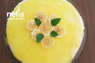 Tart Kalıbında Limon Soslu Kek Tarifi