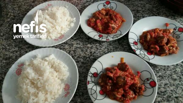 Et Suyuyla Yapılmış Pirinc Pilavim(püf Noktasiyla)