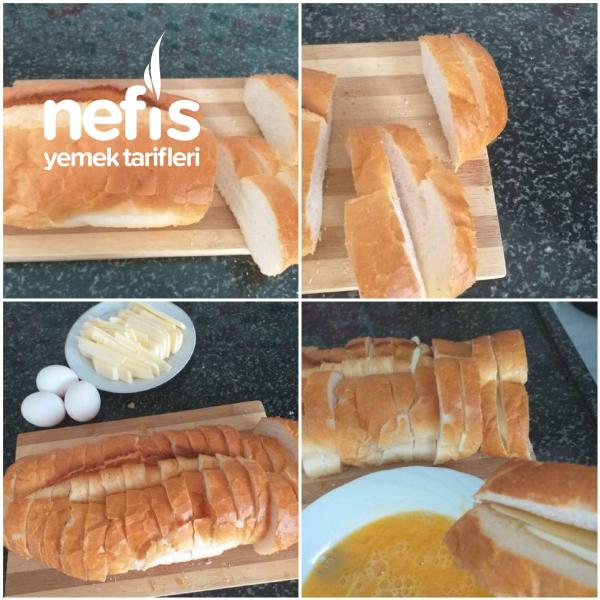Kasar Dolgulu Yumurtalı Ekmek