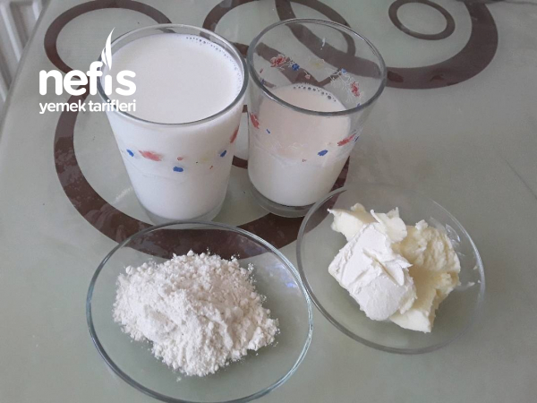 Ev Yapımı 3 Malzemeli Süt Kreması(çoook Pratik)