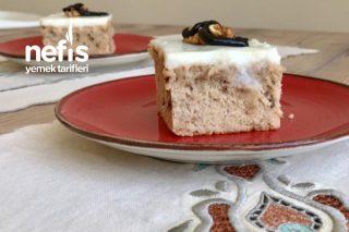 Tarçınlı Cevizli Kremalı Kek Tarifi