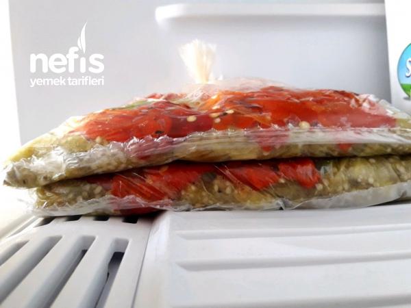 Buzlukta Közlenmiş Patlıcan Biber!
