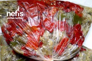 Buzlukta Közlenmiş Patlıcan Biber Tarifi