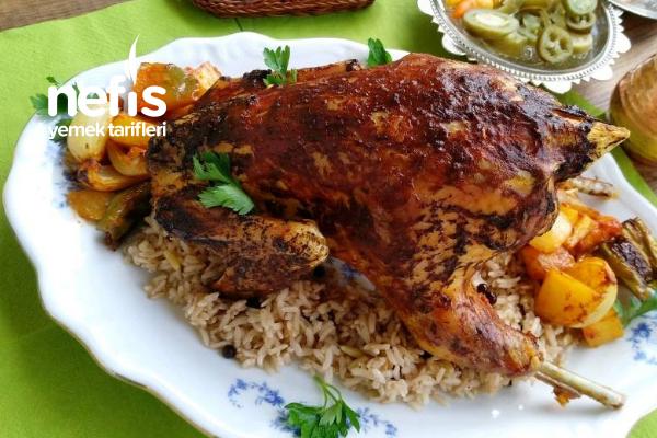 Fırında Tavuk Dolması (Organik/Köy Tavuğu) Tarifi